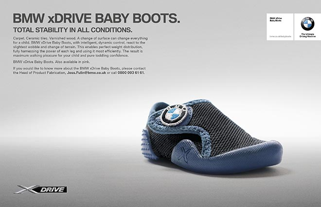 BMW Baby Boots press ad