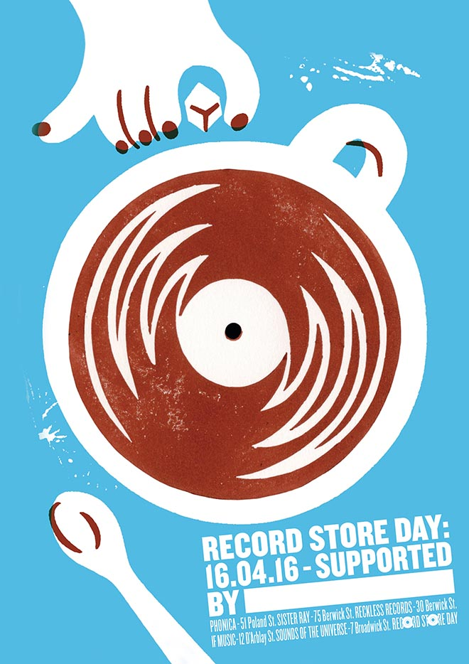 Record Store Day Poster from Soho London - Coffee