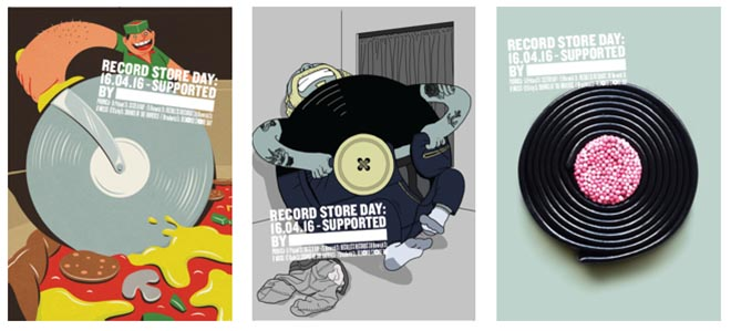 Record Store Day Posters from Soho London