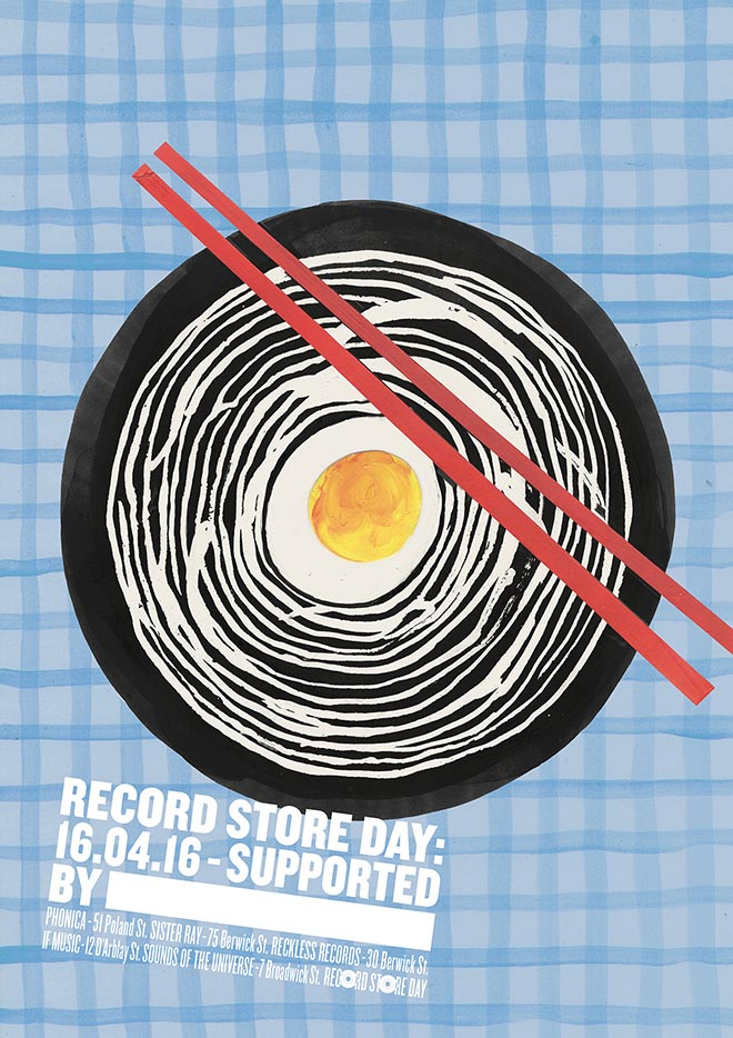 Record Store Day Poster from Soho London - Ramen