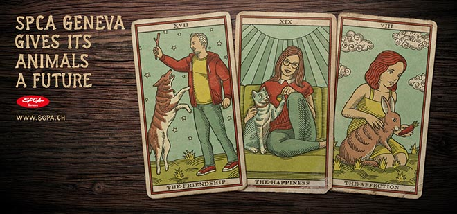 SPCA Tarot Cards SPCA Geneva gives its pets a future