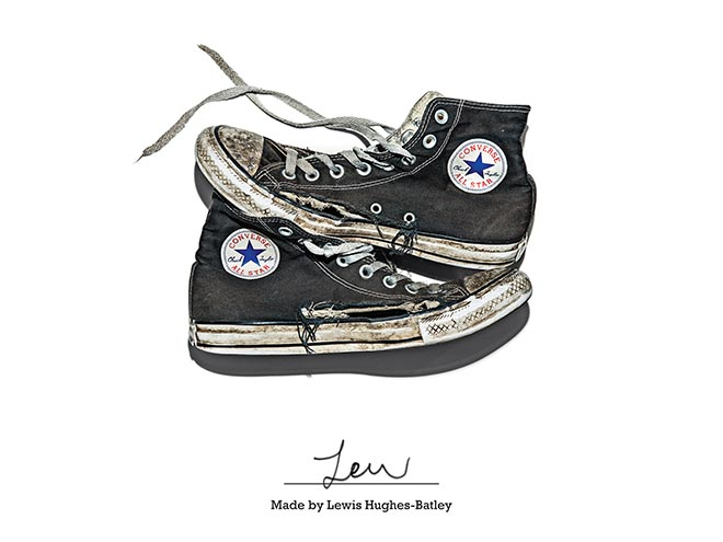 Converse Made by Lewis Hughes Batley