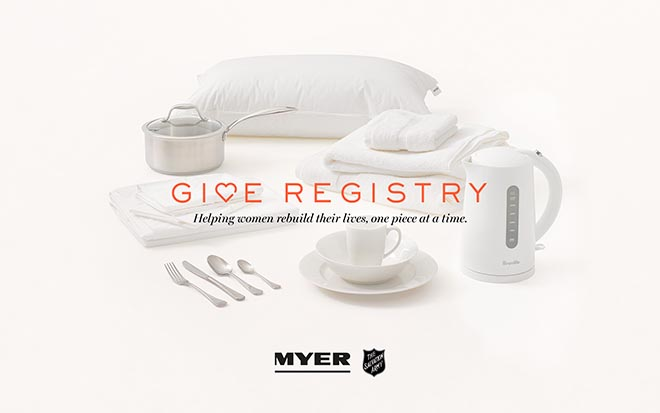 Myer Give Registry poster