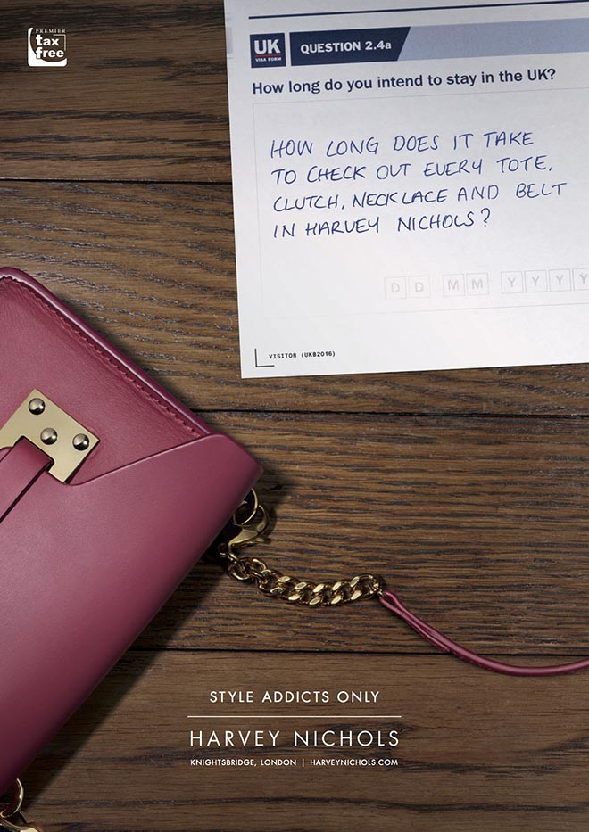 Harvey Nichols International Travellers Question 1