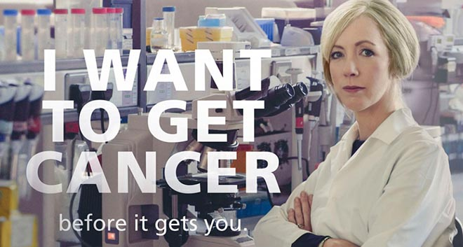 I want to get cancer before it gets you - Antoinette Perry