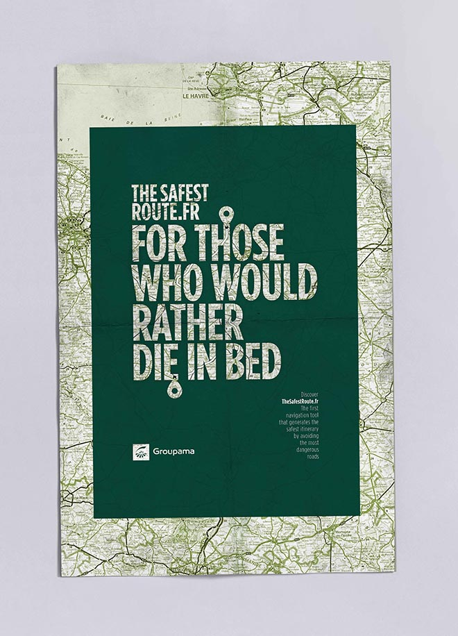 Groupama Safest Route poster - bed