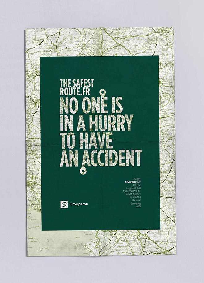 Groupama Safest Route poster - Hurry