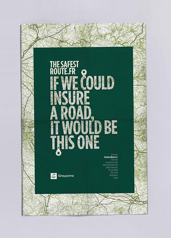 Groupama Safest Route poster - Insured Road