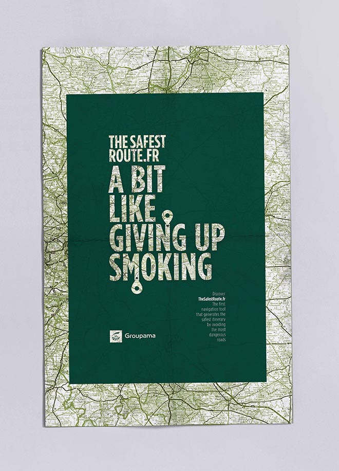 Groupama Safest Route poster - Smoking