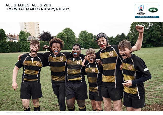 Land Rover What Makes Rugby Rugby press advertisement - All shapes All Sizes