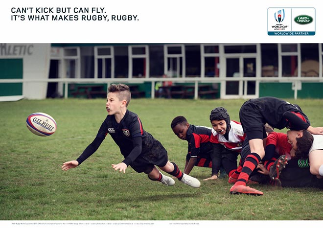 Land Rover What Makes Rugby Rugby press advertisement - Can Fly