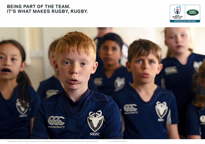 Land Rover What Makes Rugby Rugby press advertisement - Part of the Team