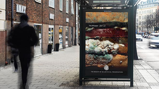 Burger King Moldy Whopper Outdoor ad