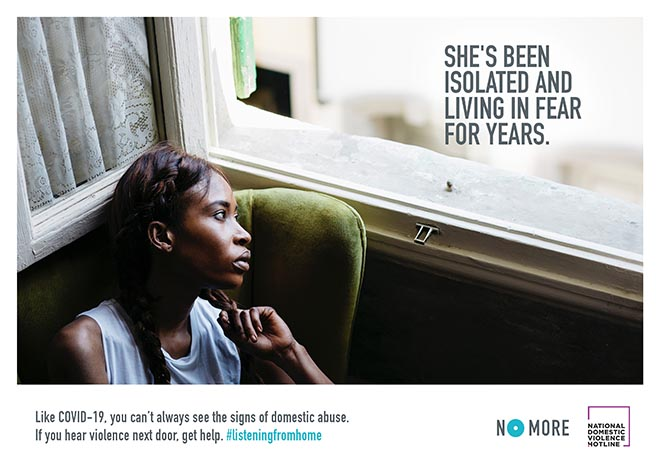 NoMore Domestic Abuse Listening from home Print