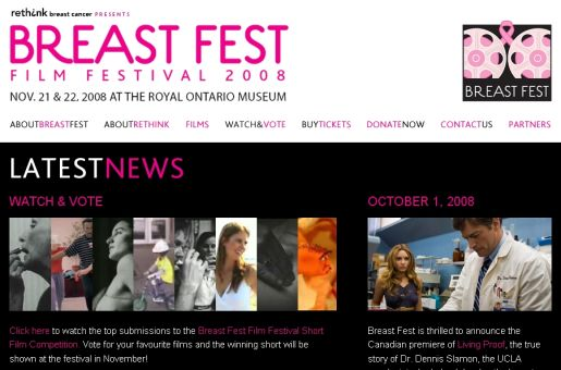 Breastfest Site screenshot