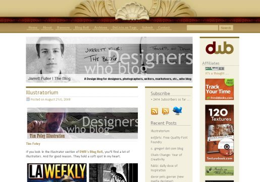 Designers Who Blog Screenshot