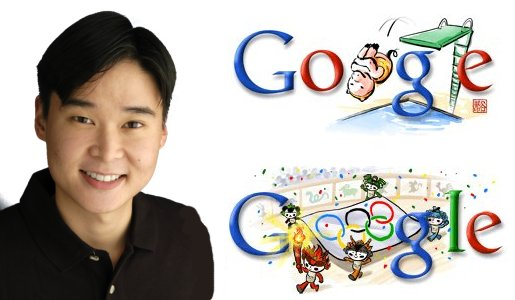 Dennis Hwang with Google Doodles from Beijing Olympics
