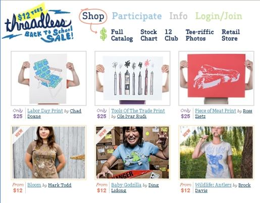 Threadless Site