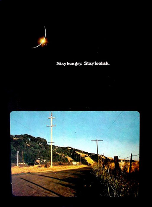 Whole Earth Catalog - Stay Hungry Stay Foolish