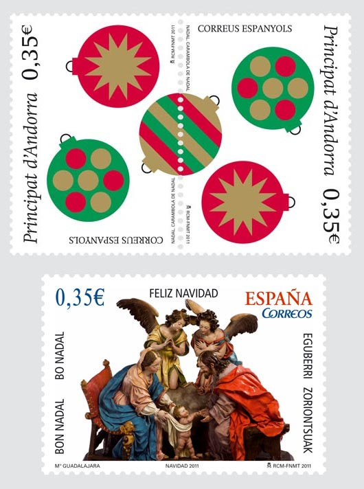 Andorra Christmas Stamps 2011