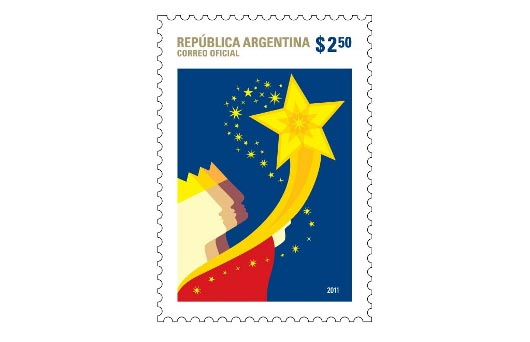 Argentina Christmas Stamps 2011