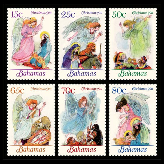 Bahamas Christmas Stamps 2011