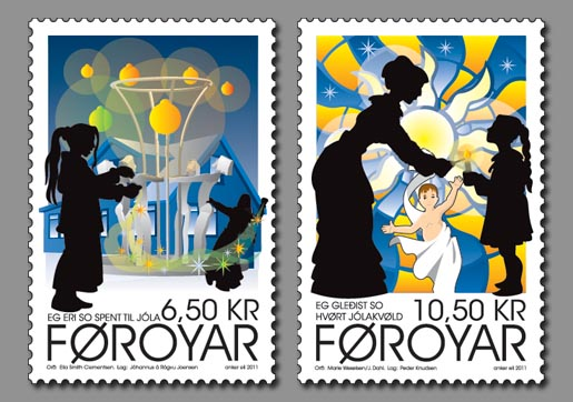 Faroese Christmas Stamps 2011