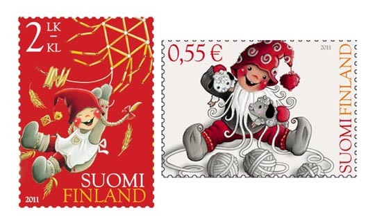 Finland Christmas Stamps 2011