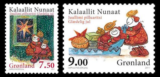 Greenland Christmas Stamps 2011