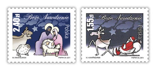 Poland Christmas Stamps 2011