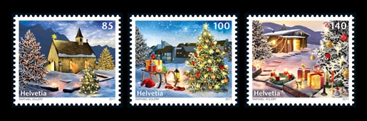 Switzerland Christmas Stamps 2011
