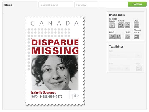 Missing Kids Stamps Isabelle