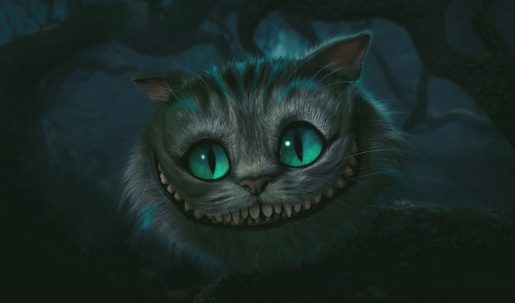 The Cheshire Cat in Alice in Wonderland movie