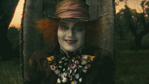 Thhe Mad Hatter in Alice in Wonderland movie