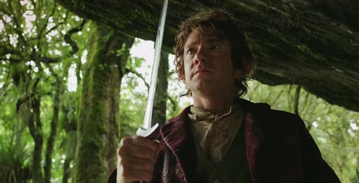 Martin Freeman as Bilbo in The Hobbit: The Unexpected Journey