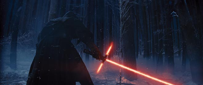 Star Wars The Force Awakens Sith with Light Saber