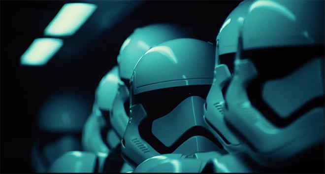 Star Wars The Force Awakens with Stormtroopers