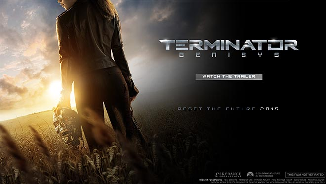 Terminator Genisys Header with Sarah Connor