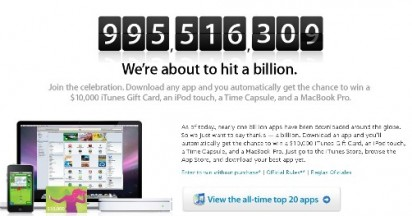 Apple in 1 Billion App Countdown