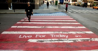 9/11 Street Crossings Live For Today
