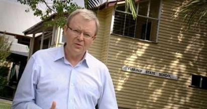 Kevin Rudd Promotes Education Policy on Australia Day
