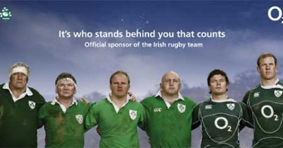 O2 World Rugby Cup Sponsor for Ireland