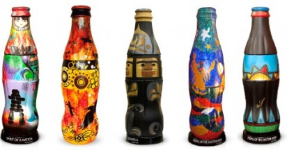 Aboriginal Coke Bottle Art at Vancouver 2010