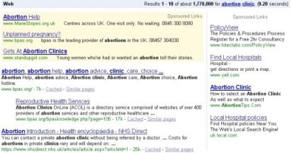 Google Abortion Policy Amended