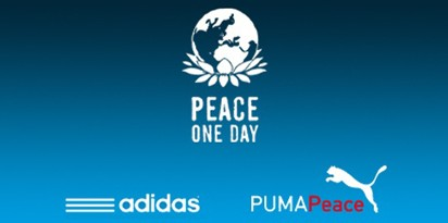 Peace One Day One Goal with Puma and Adidas