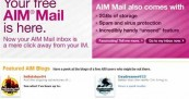 AOL Instant Messenger Mail in blogging fantasies