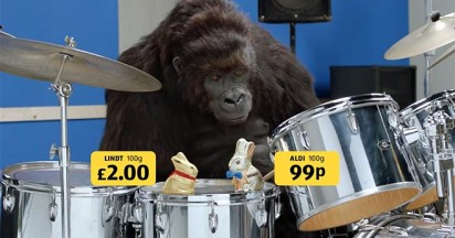 Aldi Gorilla with Chocolate Bunnies