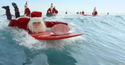 Aldi Perfect Aussie Christmas with Surfing Santas