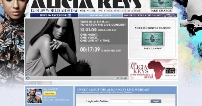 Alicia Keys Live for AIDS Concert