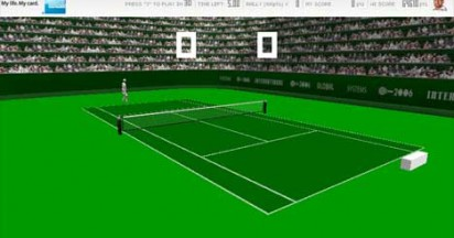 American Express Stop Pong In Online Tennis Game
